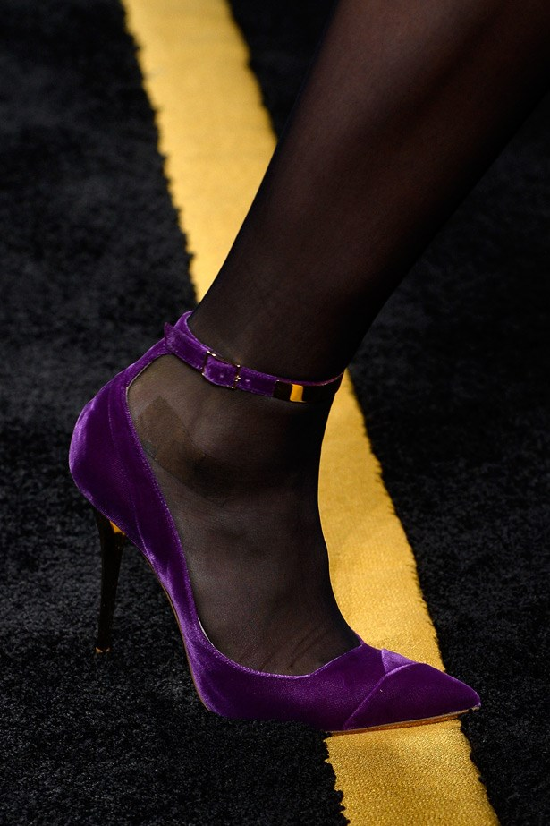 The pointed-toe pumps at Balmain.