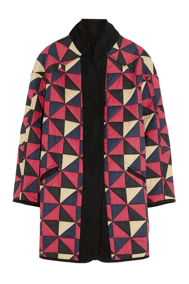 "Enid Reversible Quilted Cotton Coat, $765, Étoile Isabel Marant, <a href=""http://www.net-a-porter.com/"">net-a-porter.com</a>"