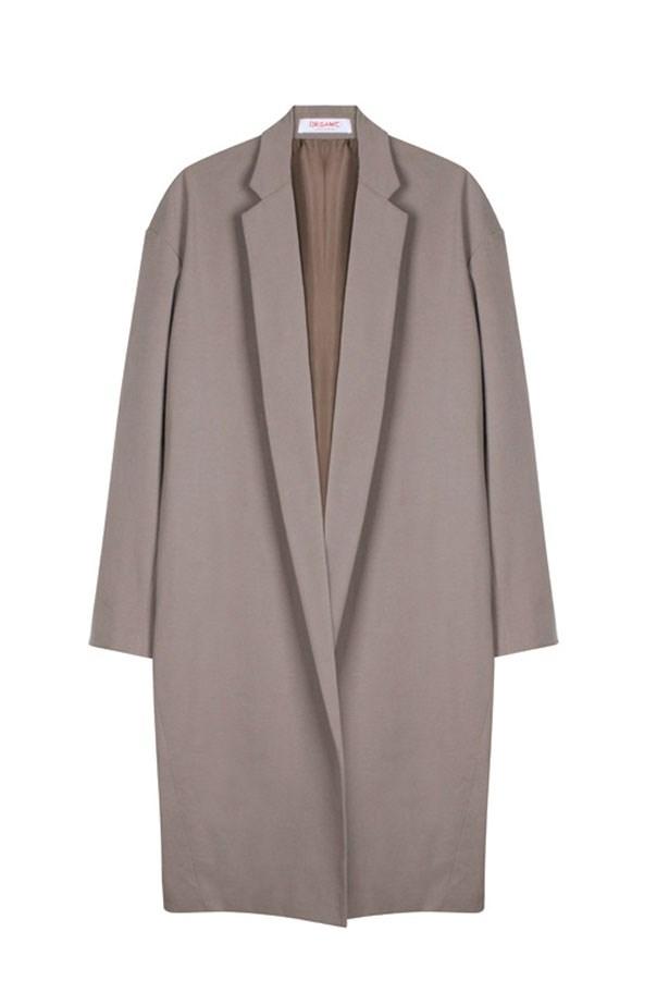 "Long Coat, $1479, Organic by John Patrick, <a href=""https://www.mychameleon.com.au/"">mychameleon.com.au</a>"
