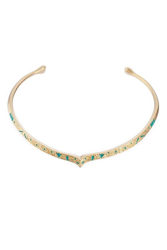 "Apache gold-plated necklace, $505, Aurélie Bidermann, <a href=""http://www.stylebop.com/au/product_details.php?id=594904"">www.stylebop.com</a>"