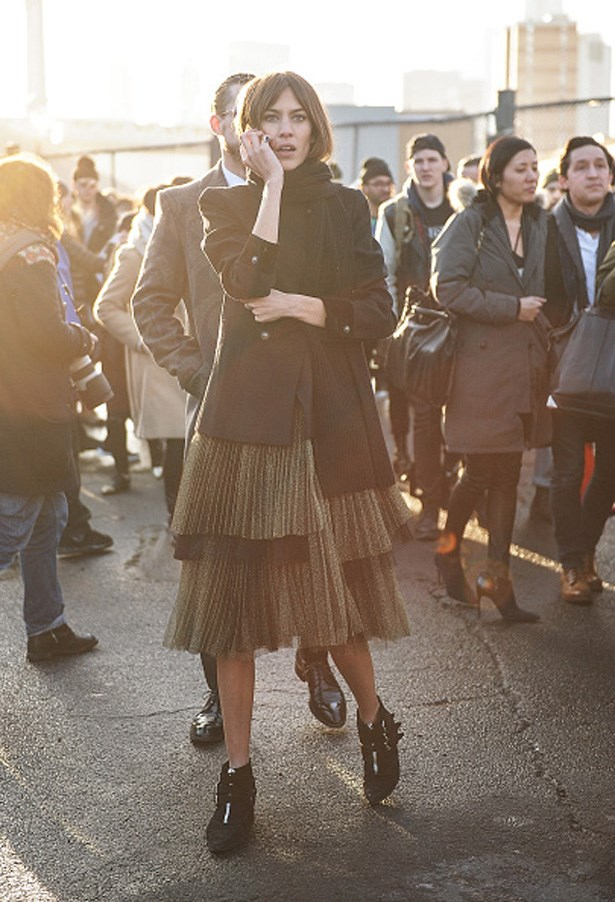 Alexa Chung at Marc by Marc Jacobs AW15-16 runway show in New York