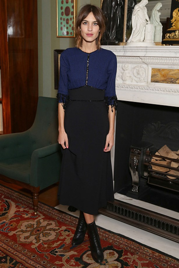 Alexa Chung at British Fashion Council party