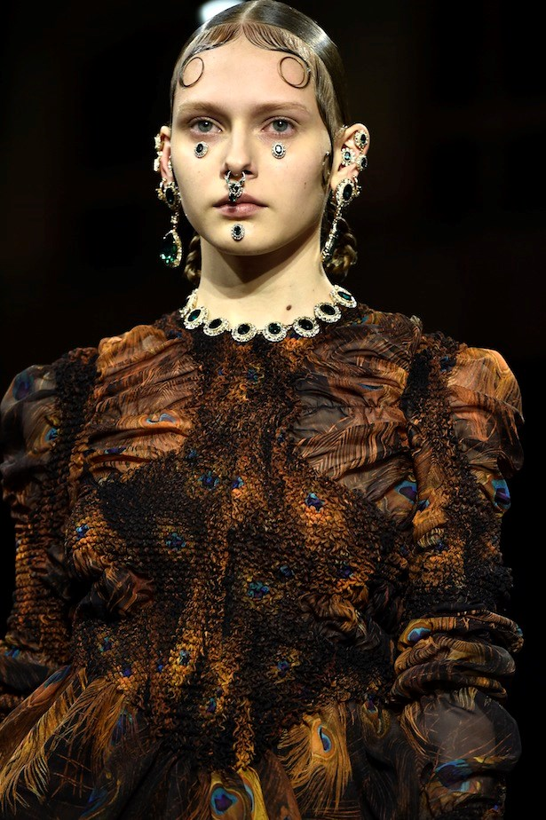 1. There are more places than just your ears and neck to adorn with jewels this season.<br><br> Maximise face real estate à la Pat McGrath's handiwork for Givenchy – just the thing to complement Victorian chola girl garb and gelled kiss curls.