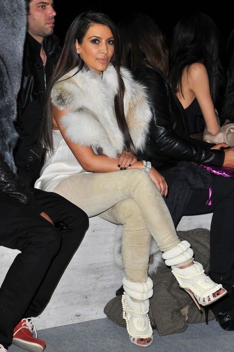 <strong>MARCH 6, 2012</strong> At the Kanye West fall 2012 show