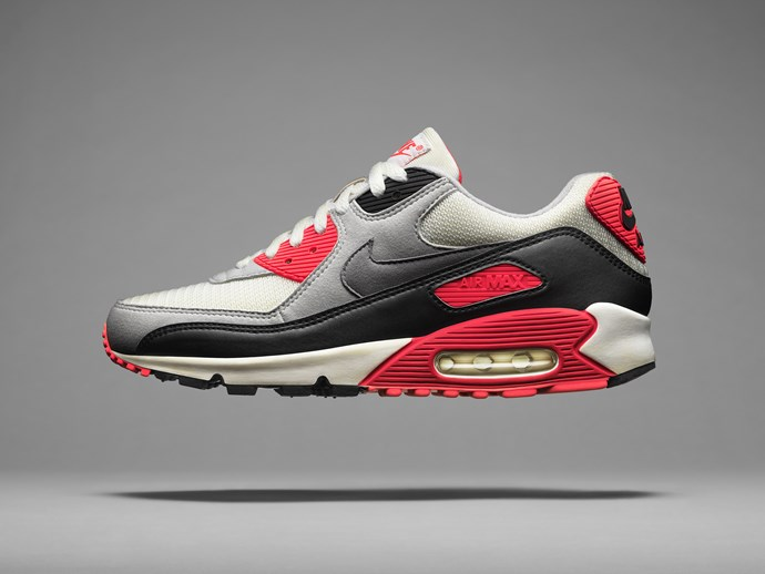 Arriving in 1990, this installment of the Air Max family featured a larger volume of Nike Air than its predecessors. However, its fluid aesthetic was the defining feature. Hatfield knew the silhouette would hit the ground running, so the design evoked forward motion.