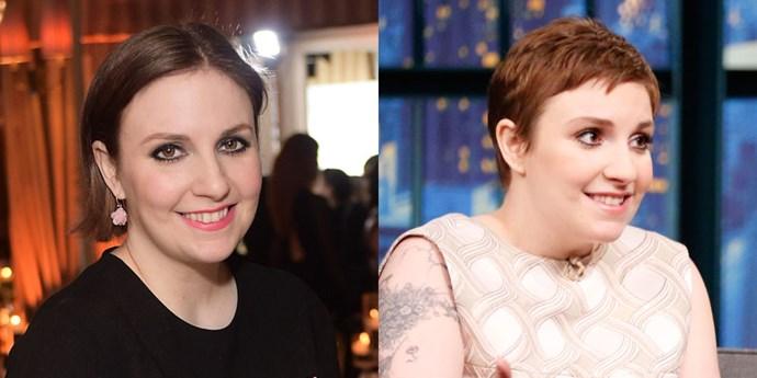 <strong>Lena Dunham</strong> has been sporting short hair for a while—first with a pixie, then with a bob as it grew out. But yesterday, the actress decided to change directions and go even shorter. She showed off a newly chopped do on Late Night With Seth Myers. It's a cool look on her for the new season.