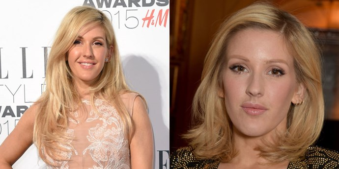 """Could fellow long hair-turned-short hair lover Taylor Swift have inspired girl gang member <strong>Ellie Goulding</strong>? The singer chopped off her signature long locks and stepped out with a cute shoulder-length do at Balmain's dinner party. """"Getting ready for the beautiful Balmain dinner ❤️@Balmain HAI HAIR CUT,"""" she wrote on the Instagram."""
