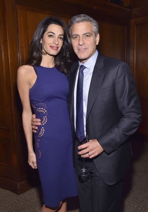 <strong>MARCH 10, 2015</strong> With George Clooney at the 100 LIVES Event.