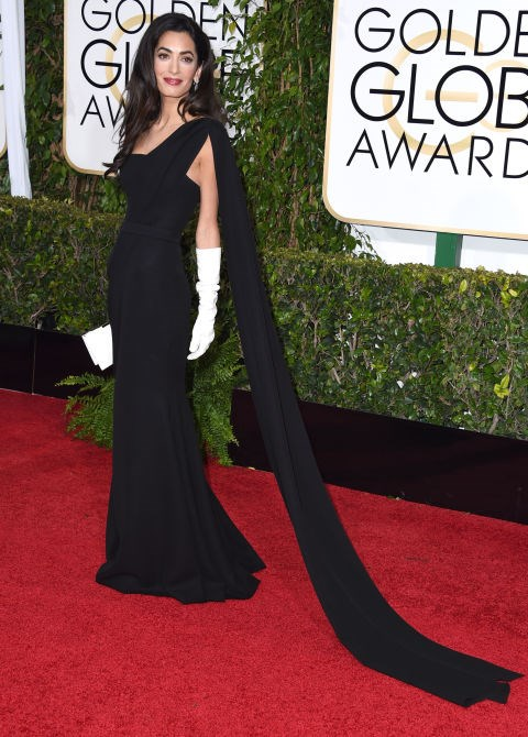 <strong>JANUARY 11, 2015</strong> Arriving at the Golden Globes.
