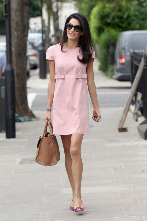 <strong>MAY 20, 2014</strong> Pretty in pink, out and about in London.