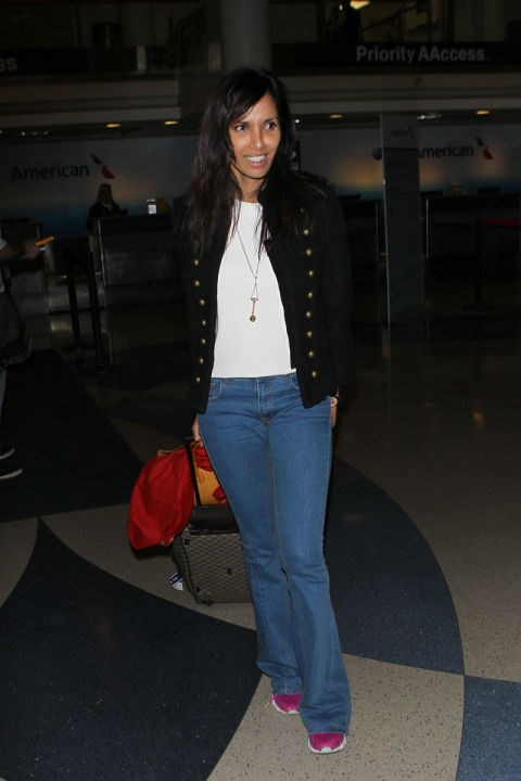 <strong>PADMA LAKSHMI</strong> <BR> You can't go wrong with jeans and a white tee.