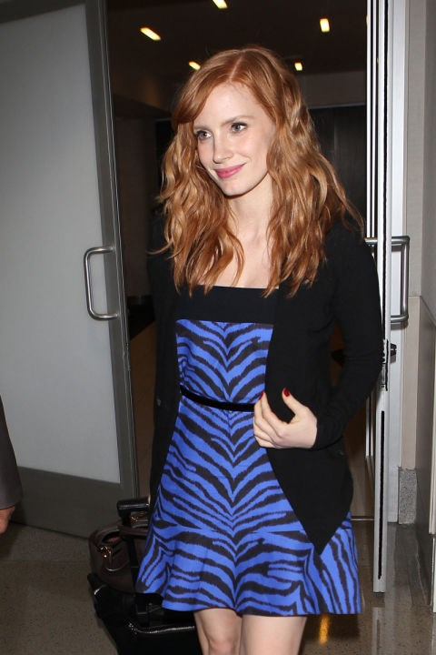 <strong>JESSICA CHASTAIN</strong> <BR> She had to have changed in the bathroom, right?