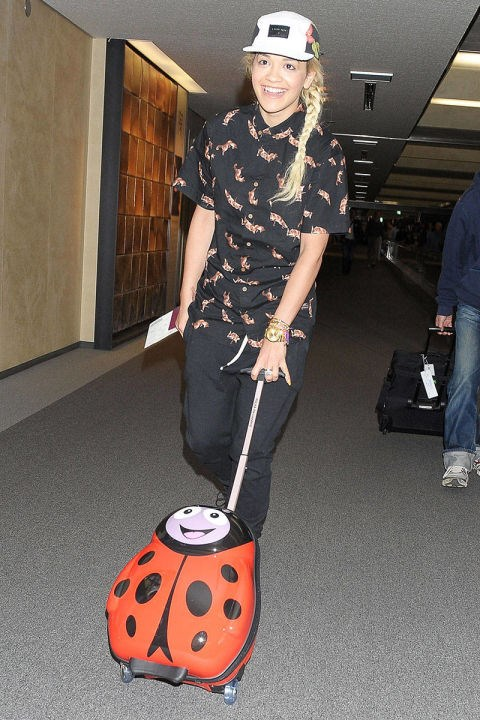 <strong>RITA ORA</strong> <BR> Playful accessories will make you smile when your flight is delayed...