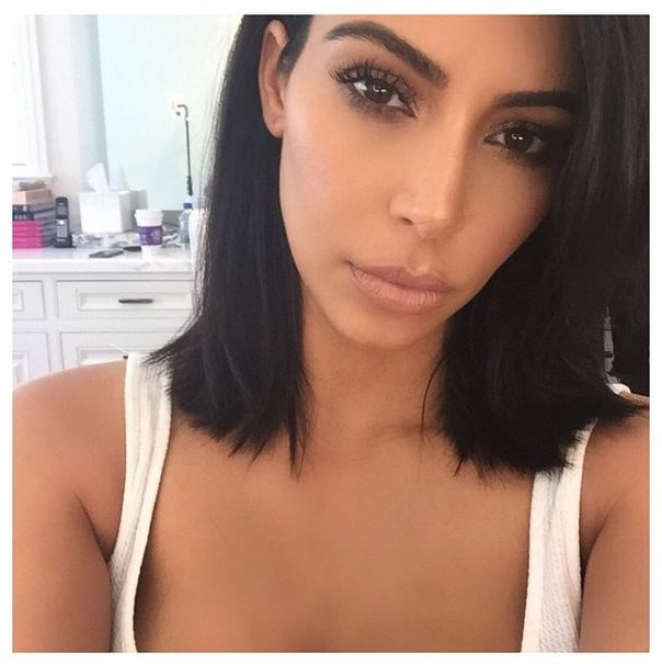 """<strong>Short hair, don't care</strong> <BR> <BR> In a bold move, Kim dispensed with her signature long hair two months ago, captioning her Instagram """"I cut my hair short today""""."""