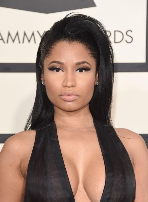 Combine a front flip with stick-straight strands, like Nicki Minaj