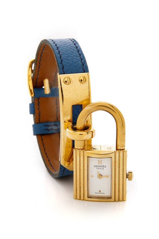 "Vintage Hermes Epsom Kelly watch, $2,987.31, What Goes Around Comes Around, <a href=""http://www.shopbop.com/vintage-hermes-epsom-kelly-watch/vp/v=1/1558153294.htm?folderID=28471&fm=other-shopbysize&colorId=15134"">www.shopbop.com</a>"