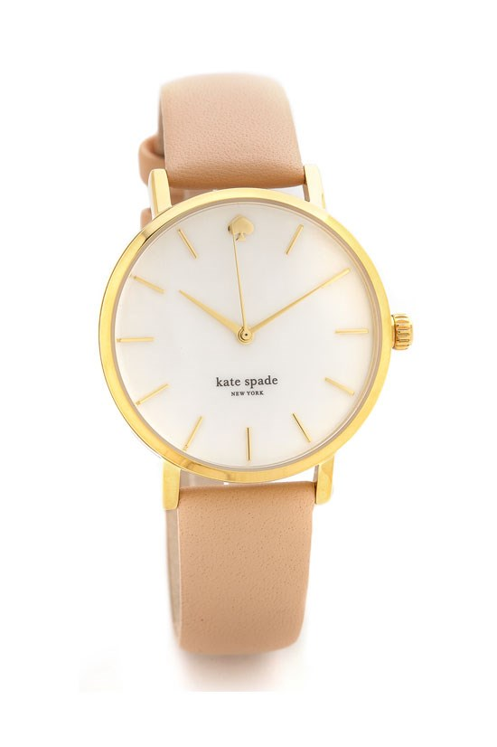 "Metro classic watch, $260.87, Kate Spade New York, <a href=""http://www.shopbop.com/metro-classic-watch-kate-spade/vp/v=1/1509646286.htm?folderID=2534374302055823&fm=other&colorId=19550"">www.shopbop.com</a>"