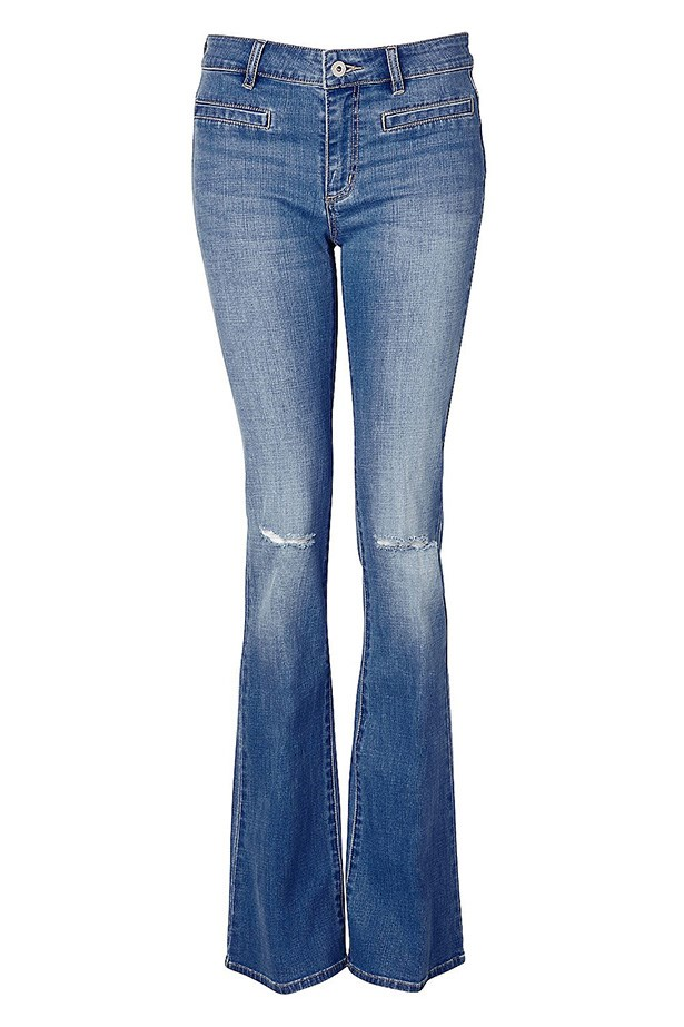 "Jeans, $129.95, Witchery, <a href=""http://www.witchery.com.au/shop/new-in/woman/clothing/60179631/Slash-Knee-Flare.html"">witchery.com.au</a>"