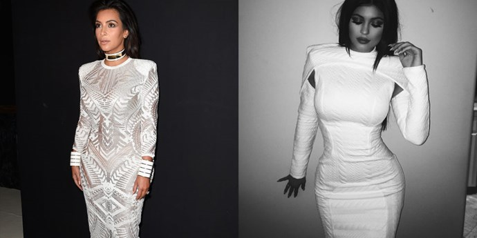 <strong>WHITE BODY CON AND SHOULDER PAD TWINS</strong>