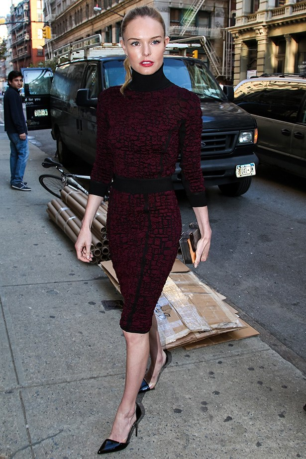 Kate Bosworth ups the ante in this chic high-necked dress.