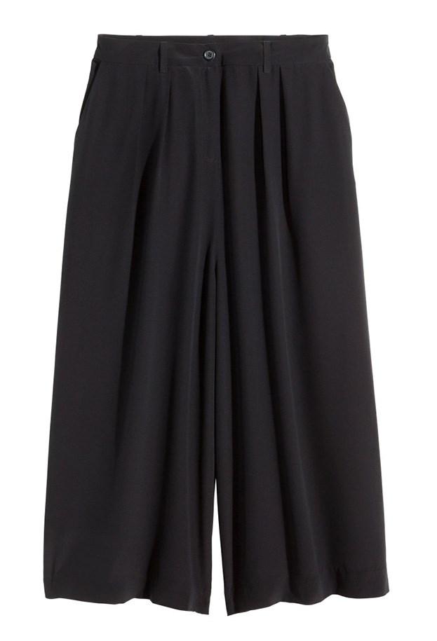 """Culottes, $99.95, H&M, <a href=""""http://www.hm.com/au/product/89752?article=89752-B"""">hm.com/au</a>"""