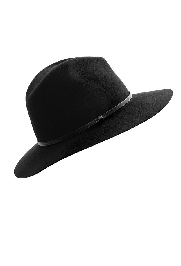 "Hat, $79, Marcs, <a href=""http://www.marcs.com.au/product-detail.html?styl=16891&clr=BLACK&cat=113#.VSYhb_mUdzg"">marcs.com.au</a>"