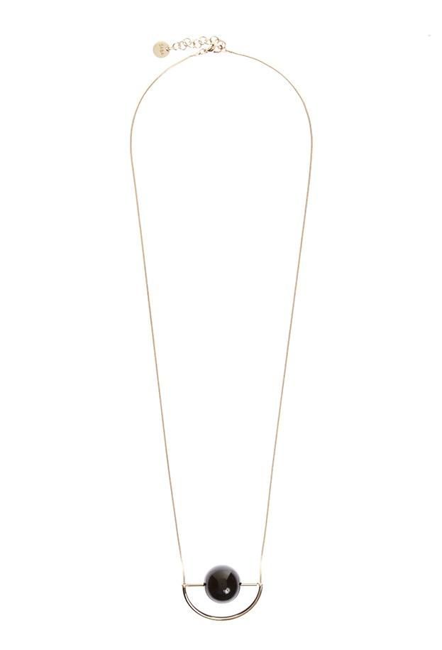 "Necklace, $79, Saba, <a href=""http://www.saba.com.au/luna-necklace-WAW1543.html?dwvar_WAW1543_color=BLACKGOLD&dwvar_WAW1543_size=ONESIZE "">saba.com.au</a>"
