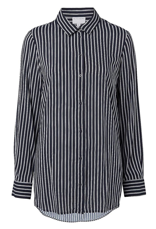 "Shirt, $89.95, Witchery, <a href=""http://www.witchery.com.au/shop/new-in/woman/clothing/60177653/Urban-Longsleeve-Shirt.html"">witchery.com.au</a>"