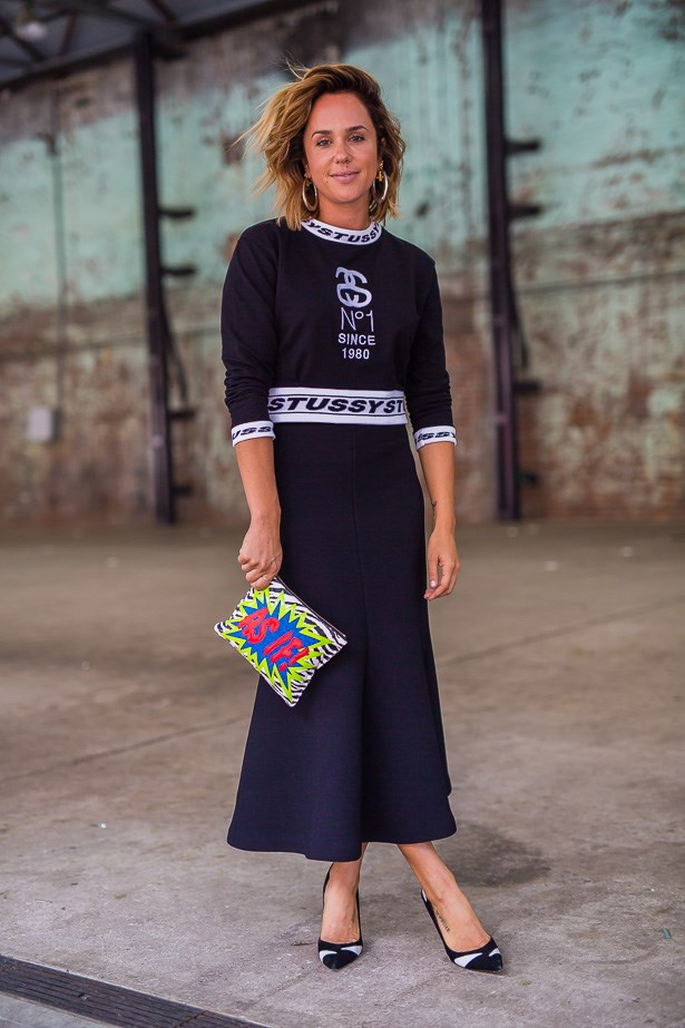 Pip Edwards wearing Stussyand Alice McCall