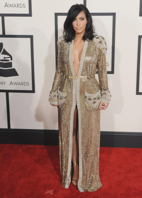 <strong>FEBRUARY 8, 2015</strong> <BR> In Jean Paul Gaultier at the Grammys.
