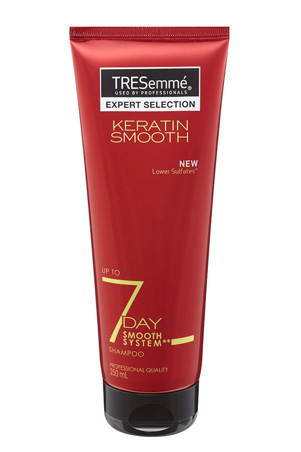 "<p><strong>K = Keratin</strong></p> <p>Keratin is an essential part of strong hair and nails. It can be used in shampoo and conditioner to restore lustre and strength to damaged hair. </p> <p><em>7 Day Keratin Smooth Shampoo, $6.99, TRESemmé, <a href=""http://www.tresemme.com.au/"">tresemme.com.au</a> </em></p>"