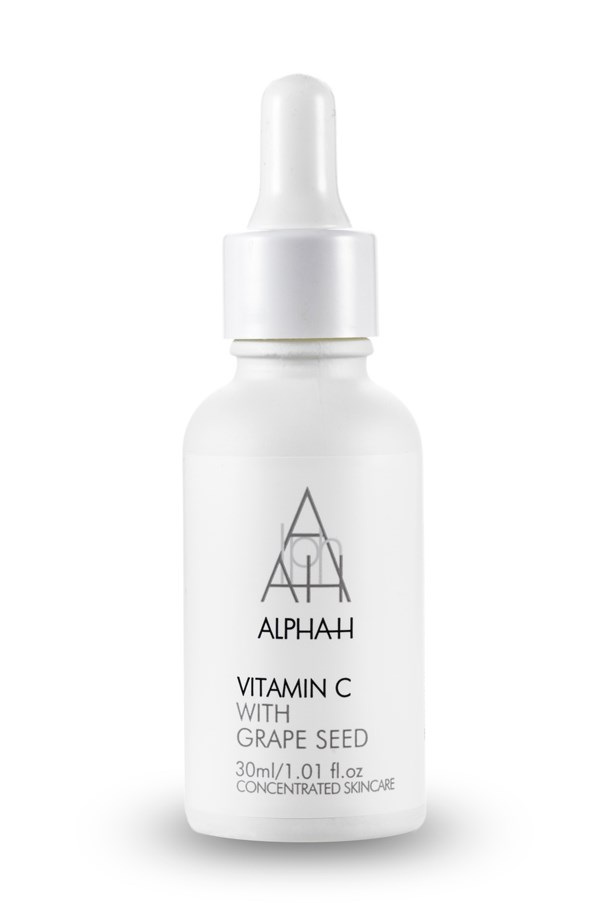 "<p><strong>V = Vitamin C</strong></p> <p>Vitamin C is a form of antioxidant that combats free radicals and defends against premature aging. When added into your skincare routine it can boost collagen production and firm the skin.</p> <p><em>Vitamin C Serum with Hyaluronic Acid and Grapeseed, $99, Alpha-H, <a href=""http://www.alpha-h.com/"">alpha-h.com</a>  </em></p>"