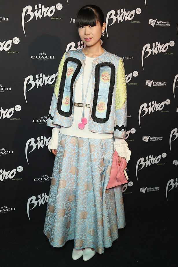 Wearing Chris Chang and Alice McCall for the Buro 24/7 Australia launch at the Sydney Opera House, April 2015.