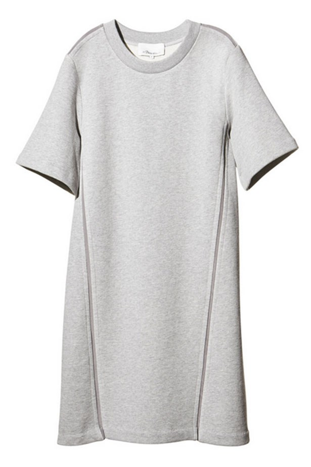 "Dress, $395, 3.1 Phillip Lim, <a href=""http://shop.goop.com/collections/whats-new/products/sweatshirt-dress?variant=1215575499"">goop.com</a>"