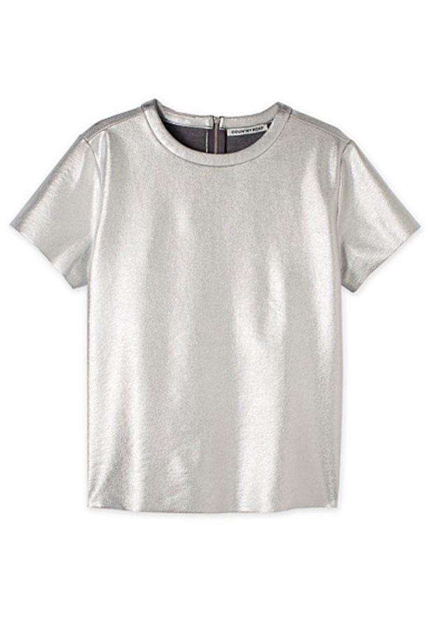 "T-Shirt, $75, Country Road, <a href=""http://www.countryroad.com.au/shop/woman/clothing/new-in/60181407/Foiled-T-Shirt.html"">countryroad.com</a>"
