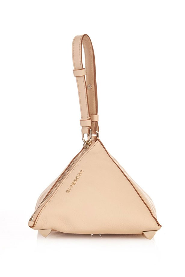 "Clutch, $1,334, Givenchy, <a href=""http://www.matchesfashion.com/au/products/Givenchy-Pyramid-leather-clutch-1008381"">matchesfashion.com</a>"