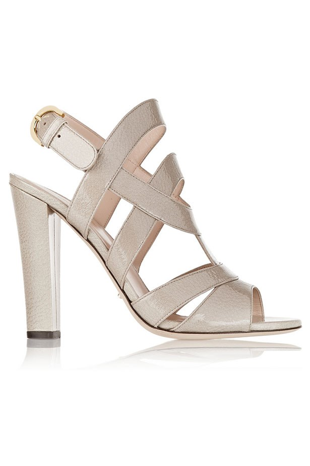 "Heels, $457, Sergio Rossi, <a href=""http://www.theoutnet.com/product/Sergio-Rossi/Donna-textured-patent-leather-sandals/550713?cm_mmc=Havas_ELLEAUS-_-SergioRossi-_-SS15-_-150415"">theoutnet.com</a>"