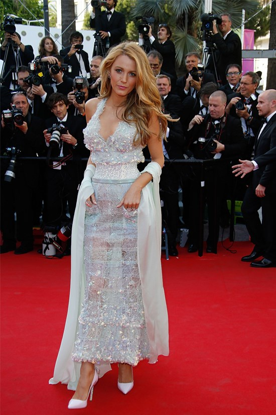 "Blake Lively wearing Chanel Couture at the premiere of ""Mr. Turner"" at the Cannes Film Festival, May 2014"