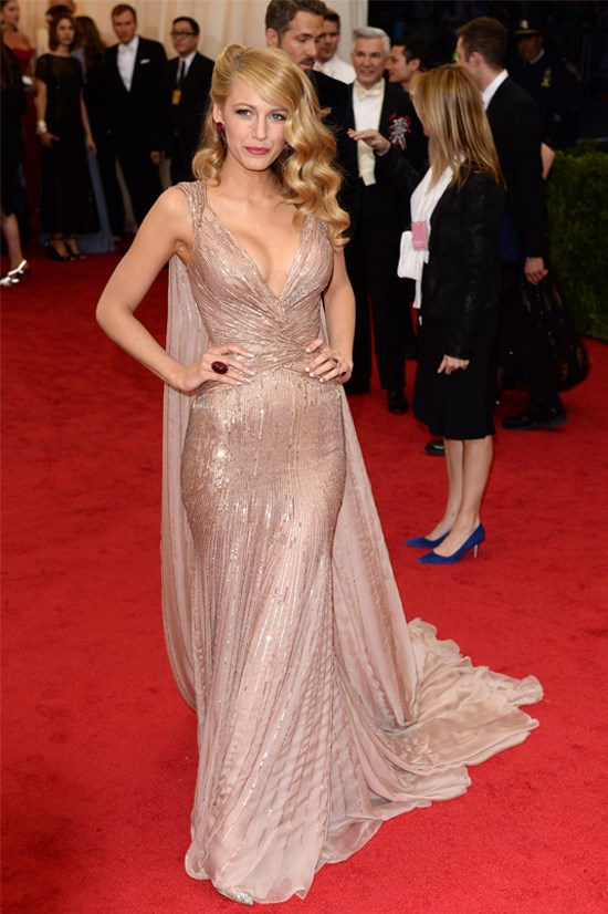 Blake Lively wearing Gucci Première at the 2014 Met Gala