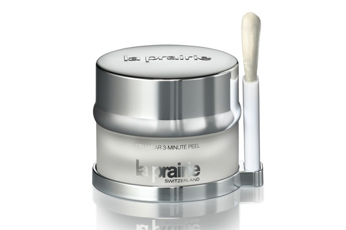 "<p><strong>The in-office treatment: Acid peel</strong></p> <p>A blend of professional strength acids exfoliate skin and stimulate collagen production for a glowy, youthful appearance (though a few days of flaking should be expected).</p> <p><strong>The OTC product: La Prairie 3 Minute Cellular Peel, $255</strong></p> <p>This weekly treatment uses AHAs and BHAs, salicylic acid and mixed fruit acid to gently remove dead surface cells and encourage the production of healthy new cells to smooth fine lines and refine pores over time. The glow, however, is immediate. </p> <p><em><a href=""http://www.laprairie.com.au/"">laprairie.com.au</a></em></p>"