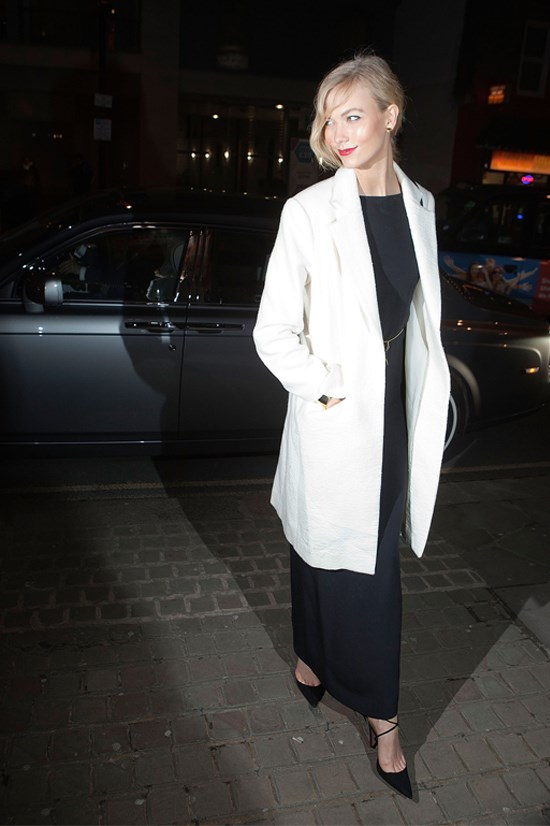 Karlie Kloss arriving at the Naked Heart Foundation's Fabulous Fund Fair, February 2015