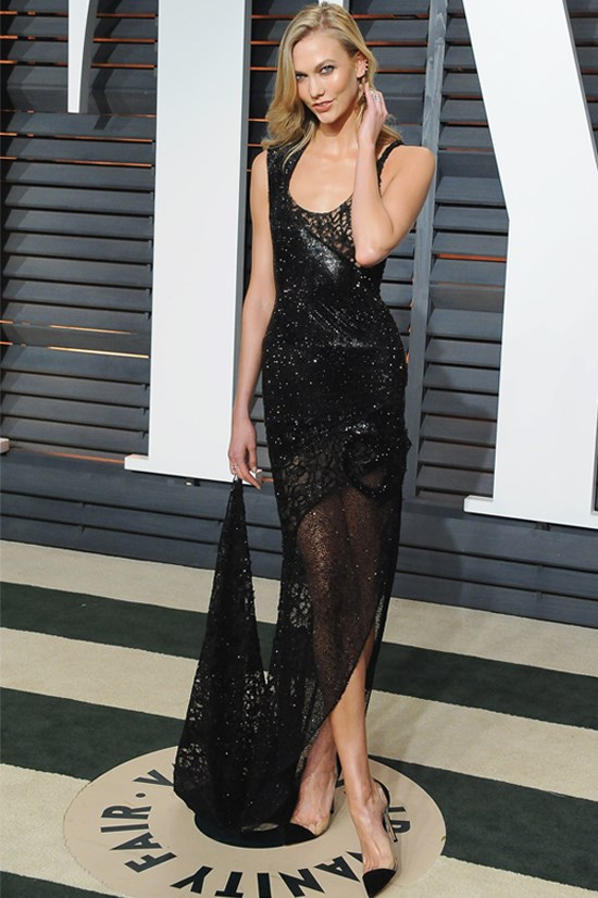 Karlie Kloss at the 2015 Vanity Fair Oscar Party, February