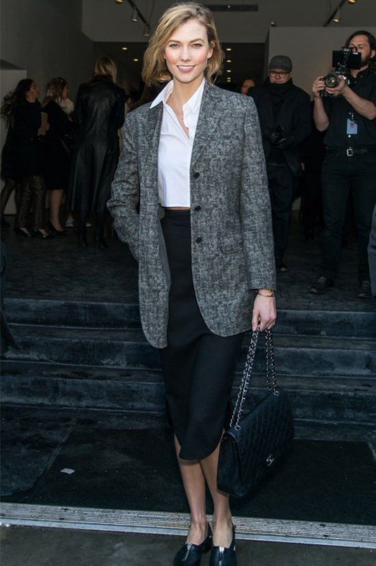 Karlie Kloss at the Michael Kors Fashion Show in New York, February 2015