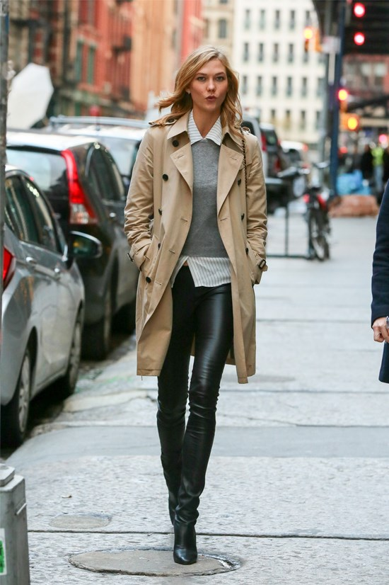 Karlie Kloss spotted in New York, December 2014