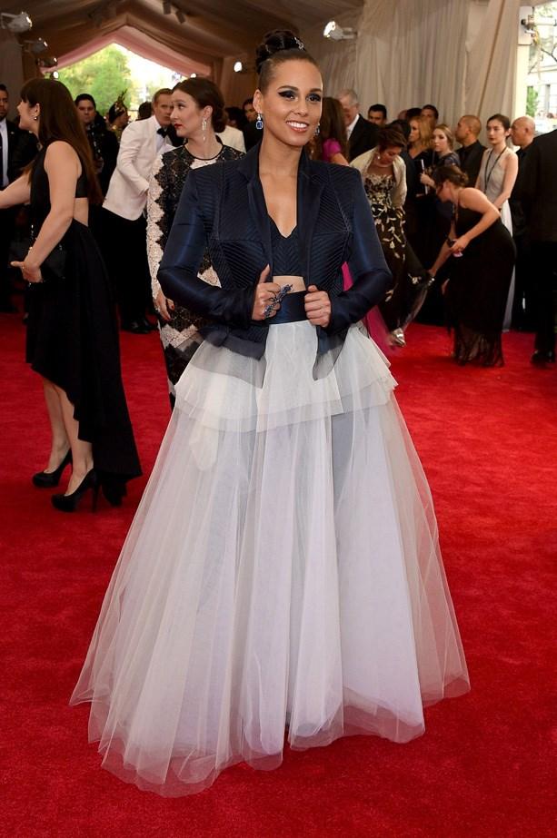 Alicia Keys in Jean Paul Gaultier