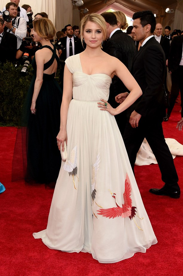 Dianna Agron in Tory Burch
