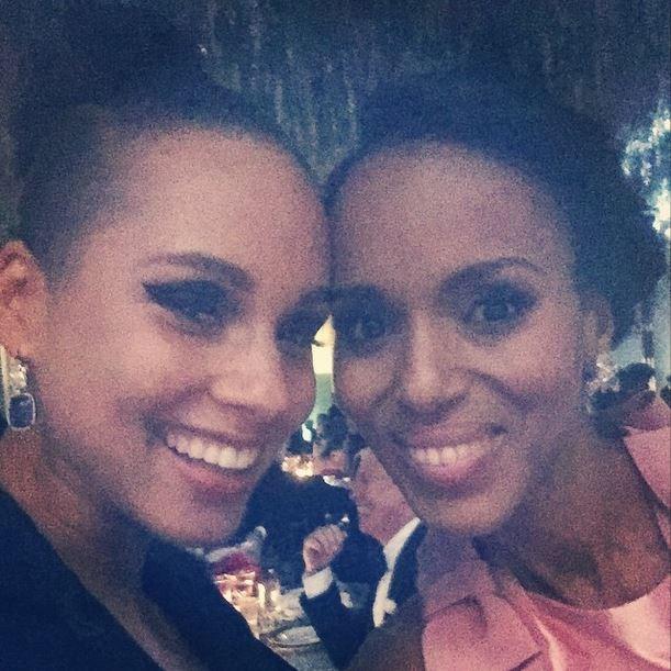 "Alicia Keys and Kerry Washington<br><br> ""#MetBall"" - @kerrywashington"
