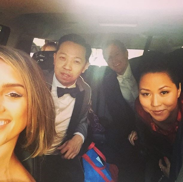 "Jessica Alba, Humberto Leon and Carol Lim<br><br> ""Car selfie #MetBall @kenzo @humbertotoo #Carol#Spike @openingceremony"" - @jessicaalba"
