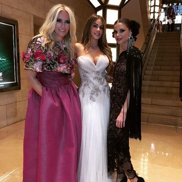 "Keren Craig, Sofia Vergara, Georgina Chapman<br><br> ""Gracias !! So exited to be going to the Met Galla dressed by this beauties #Marchesa🌸🌸🌸"" - @sofiavergara"