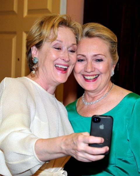 <strong>MERYL STREEP AND HILLARY CLINTON</strong>